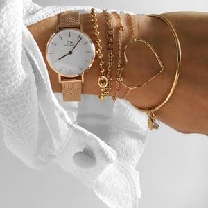 Image of Bracelet ROMANCE Argent massif ou plaqué or