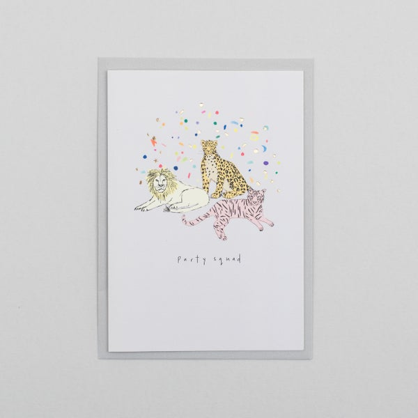 Image of Party Squad Card with Gold Foil Confetti