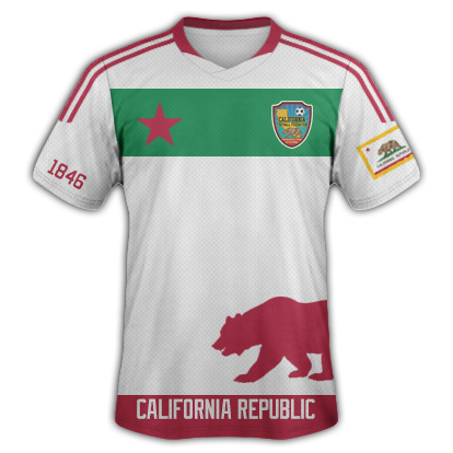 Image of California National Football Team Jersey (WHITE)
