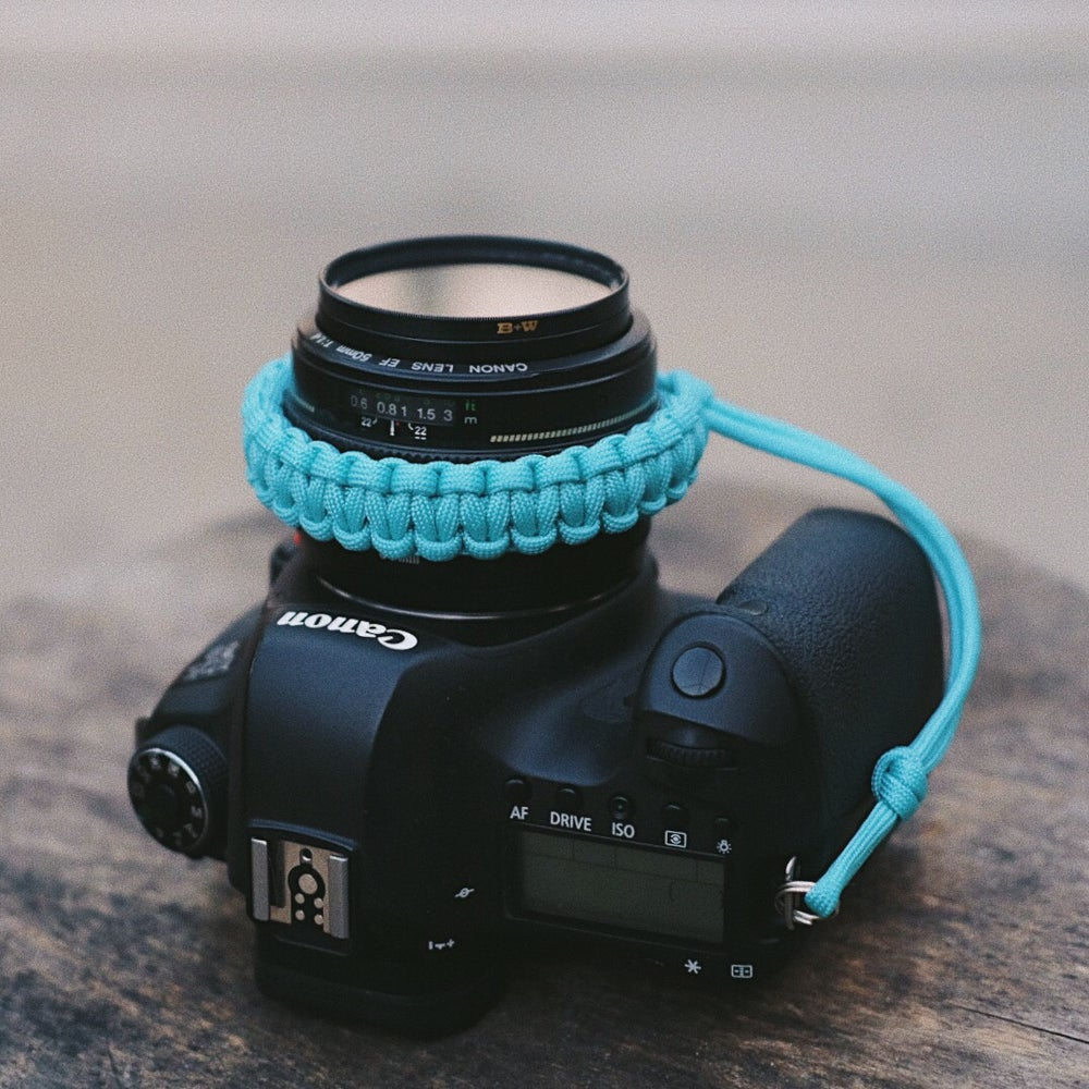 Image of Diamond blue  camera wrist strap