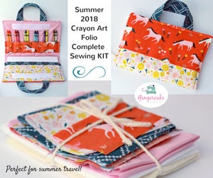 Image of Crayon Art Folio Sewing Kit and PDF pattern Summer 2018 Limited Edition