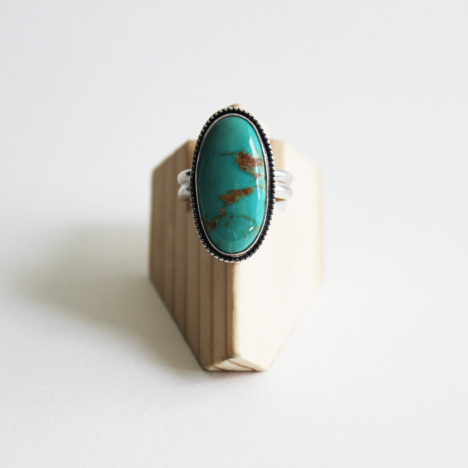 Image of Turquoise Sterling Silver Ring - Size 8.5