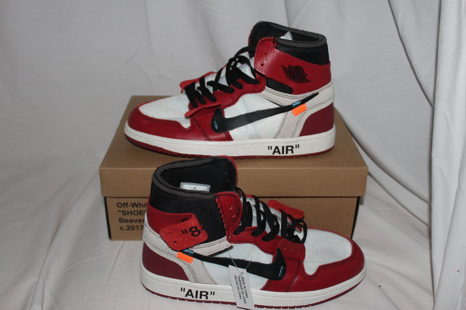 the best attitude 55dc2 94145 OFF-WHITE x Air Jordan 1 Retro High OG. Image of OFF-WHITE x Air Jordan 1  Retro High OG