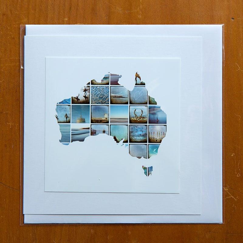 Image of Greeting Card Australia mini squares