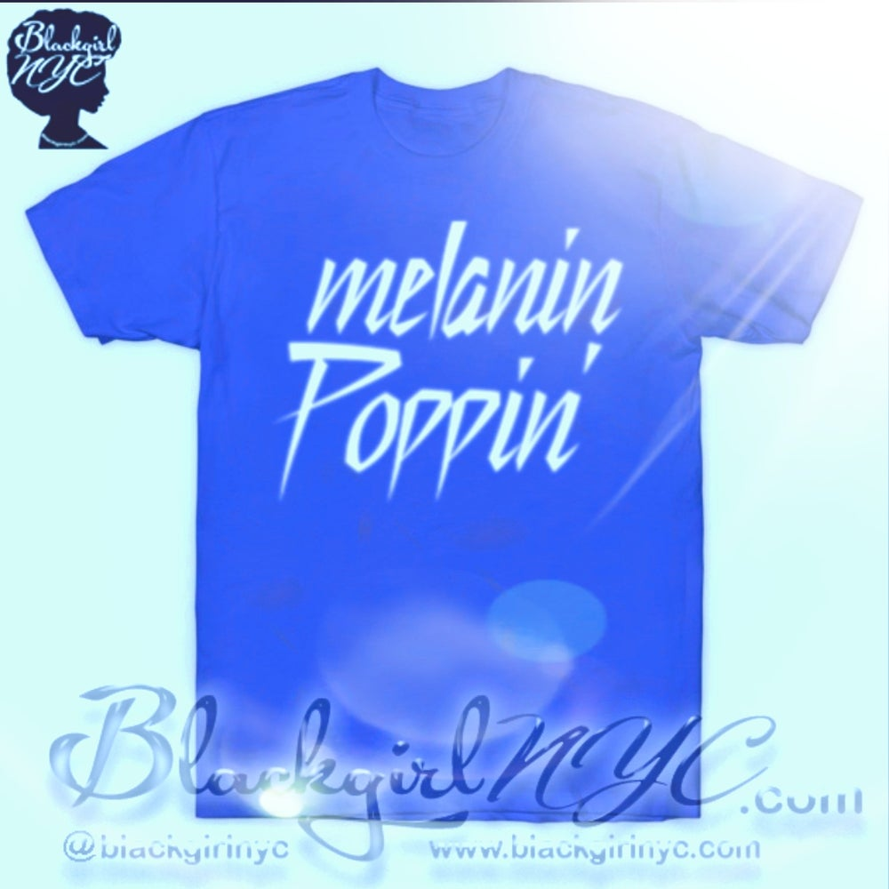 Image of Melanin Poppin (Prince Style)  tee (Brown or Blue)