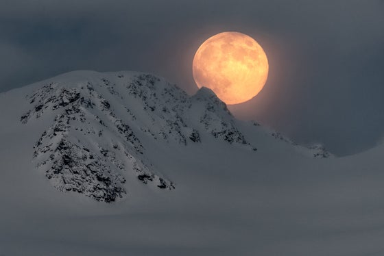 Image of Limited Edition Fine Art Print - Polar Moon Rising