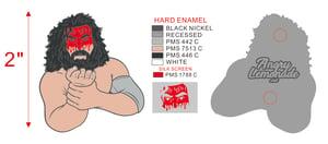 """Image of Bruiser Brody (Bloody Variant) - 2"""" Hard Enamel Pin"""