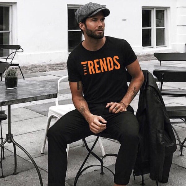Image of BLACK/ORANGE TRENDS TEE