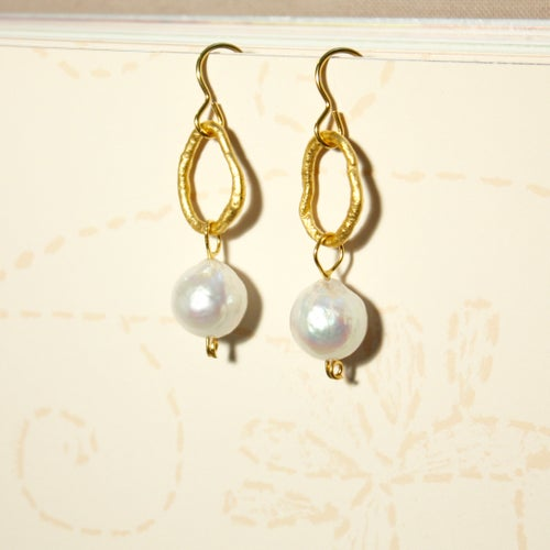 Image of Indian summer hook earrings baroque pearls