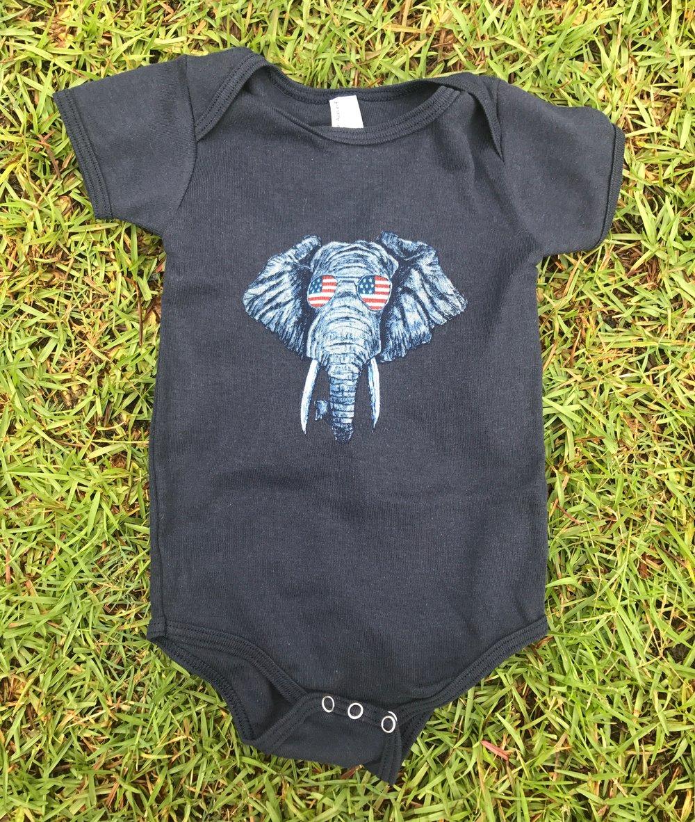 Image of Baby Elephant USA onesies