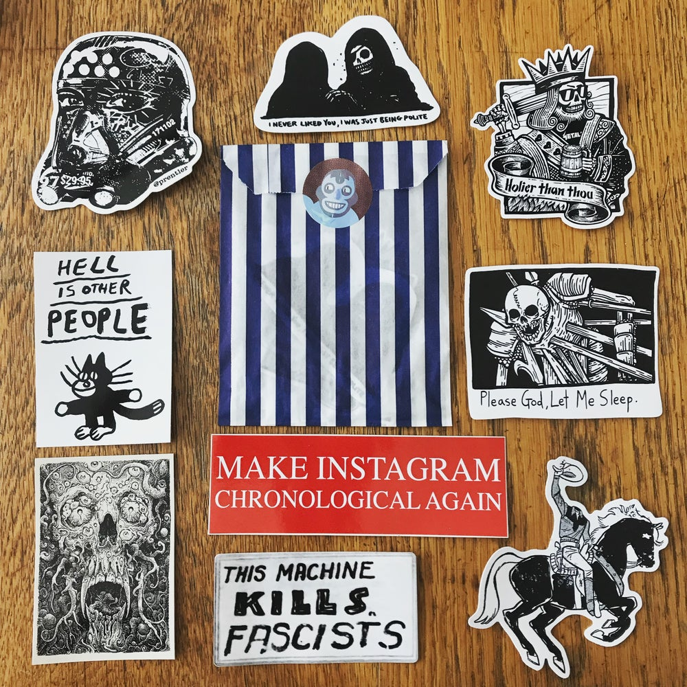 Image of BLIND STICKER PACK *ADD ON ONLY*