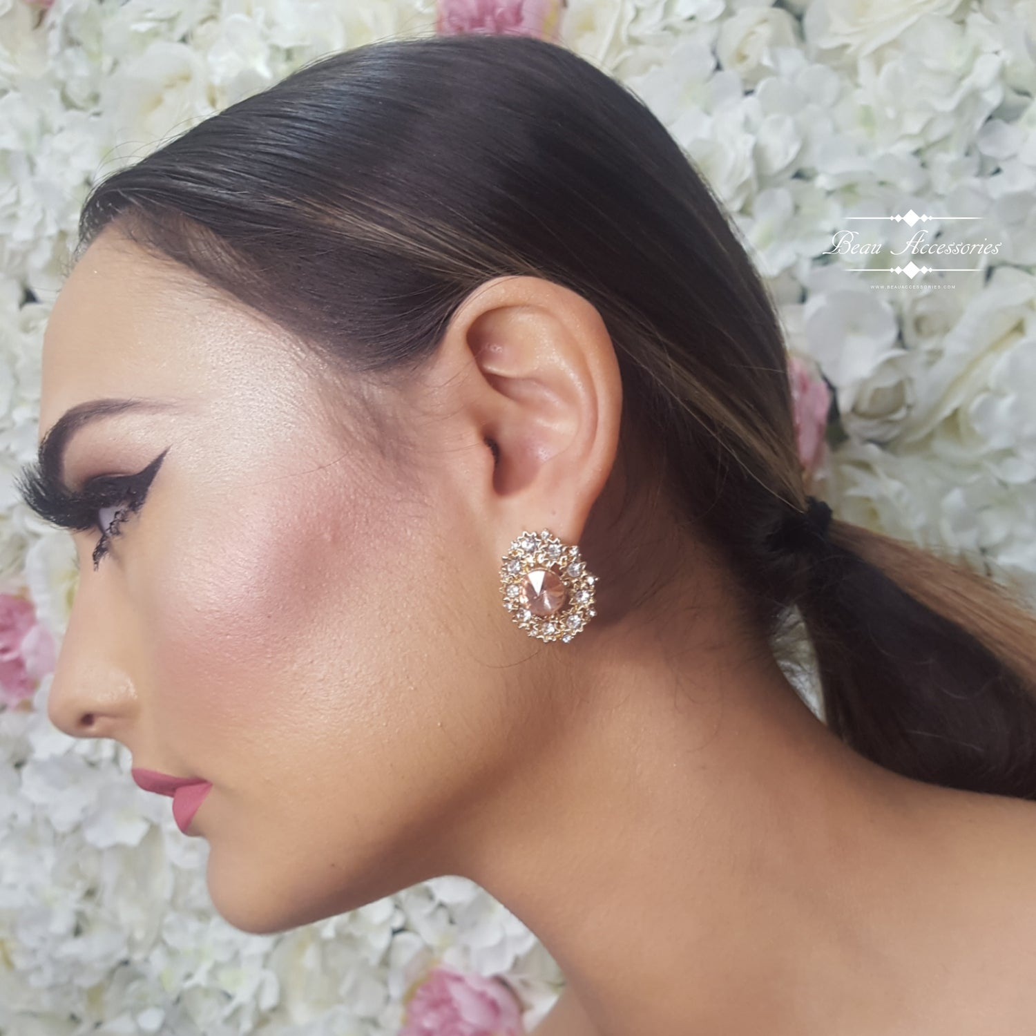 Image of Rose Gold Clip On Studs