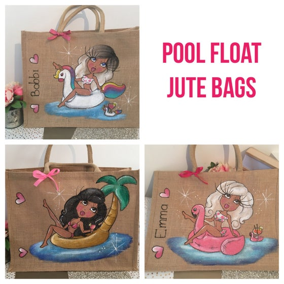Image of Pool Float Jute Bags