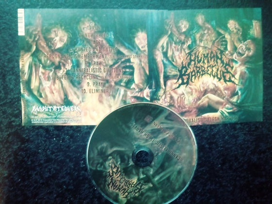 Image of HUMAN BARBEQUE - Cannibalistic flesh harvest cd