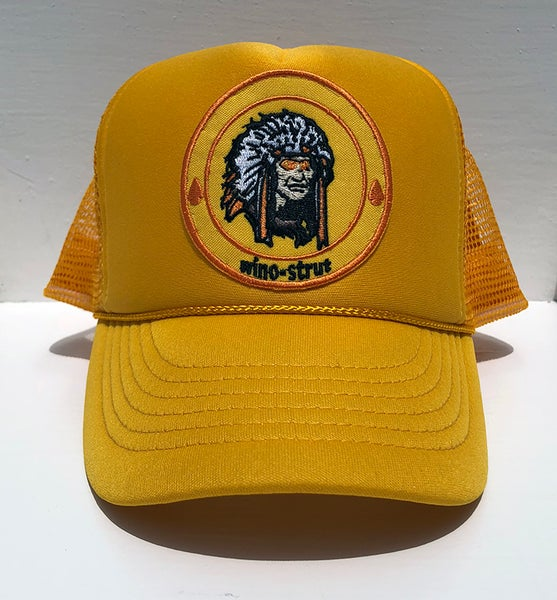 "Image of wino-strut ""Psychedelic Mellow Yellow Indian"" Hat"