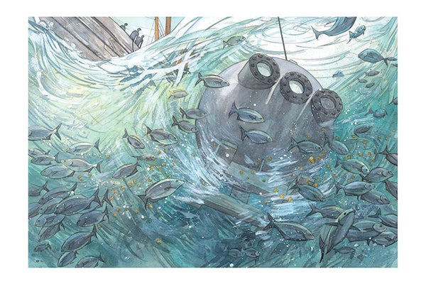 Image of Millions of Bubbles Giclée Print 16 x 24 from OTIS AND WILL DISCOVER THE DEEP