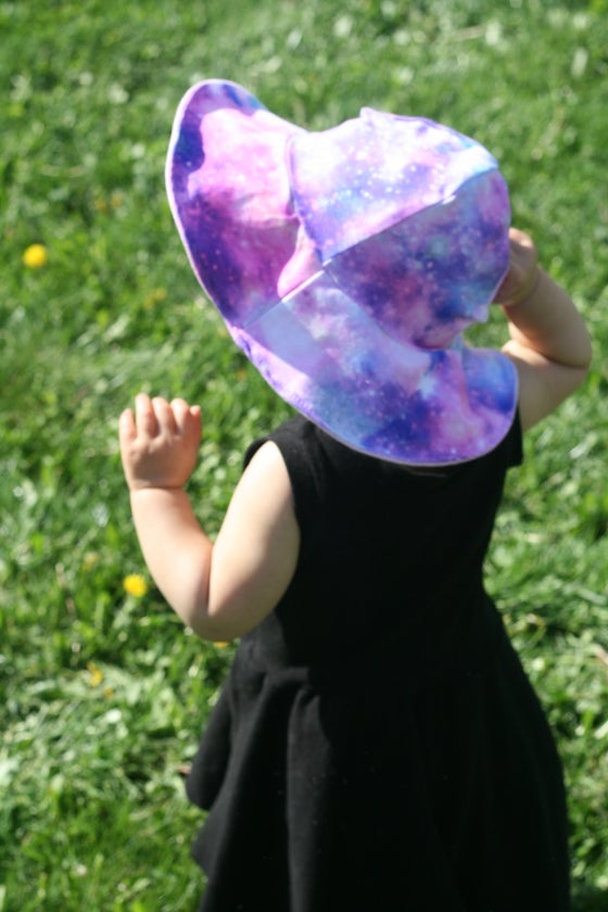 Image of Floppy Sun Hat - Pink Galaxy Print