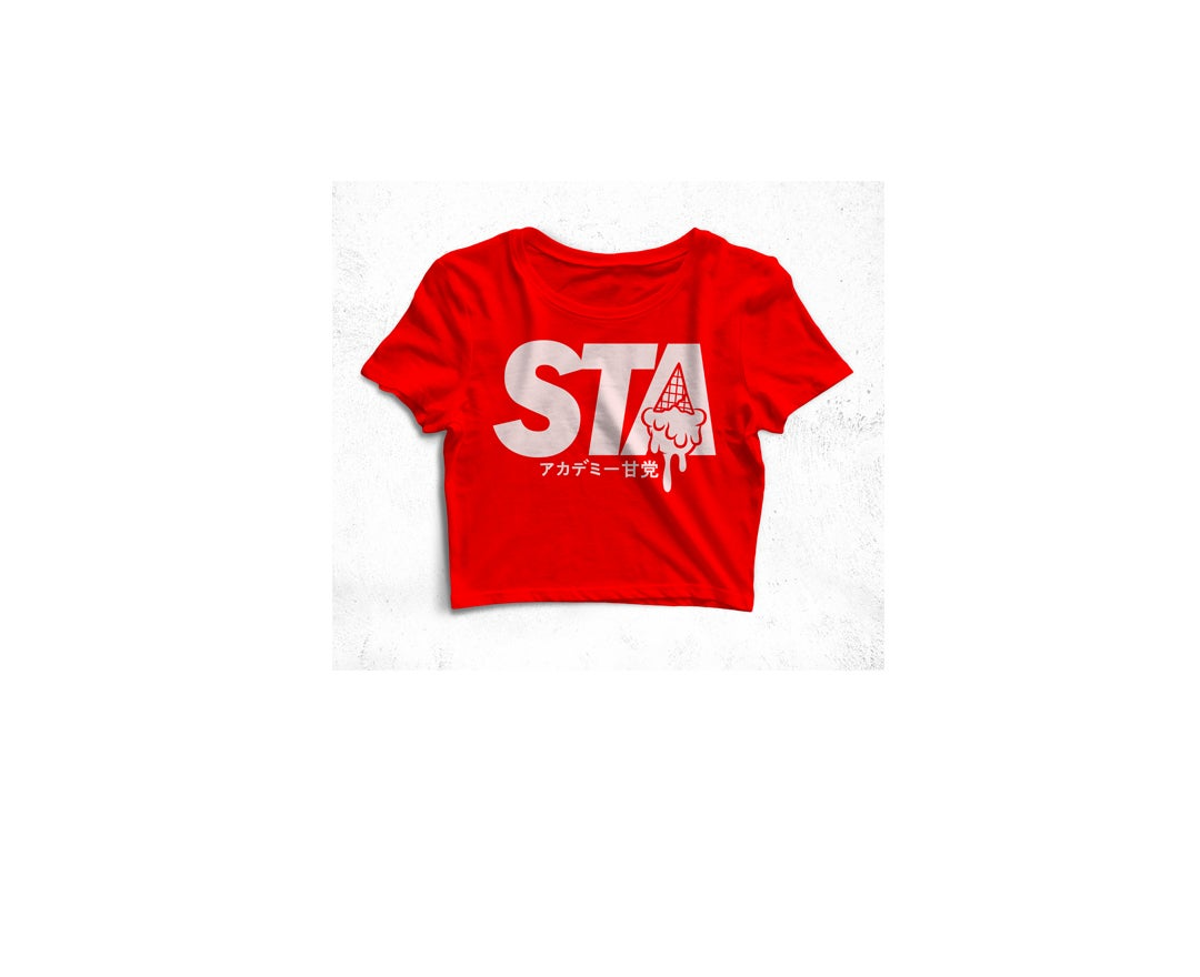 Image of STA Last Drip Crop Top Red