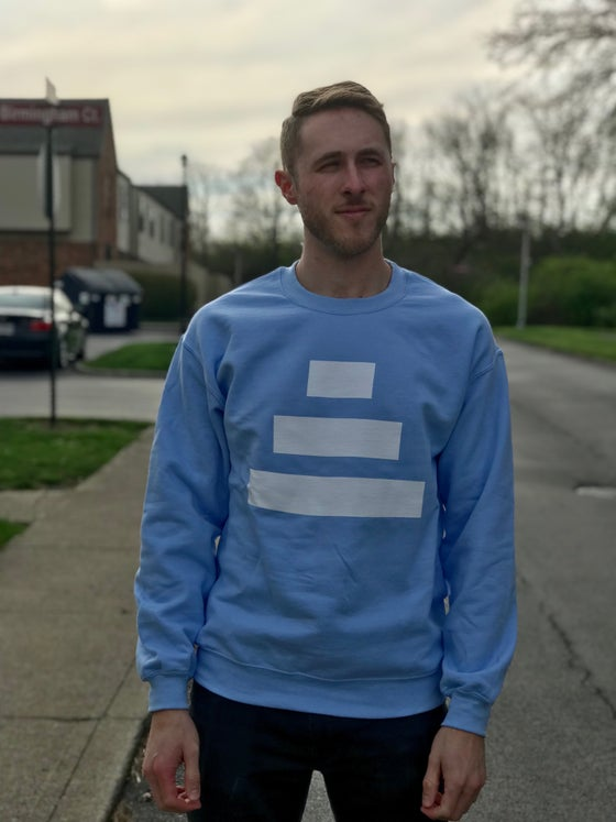 Image of Powder Blue Sweater - White Ziggurat