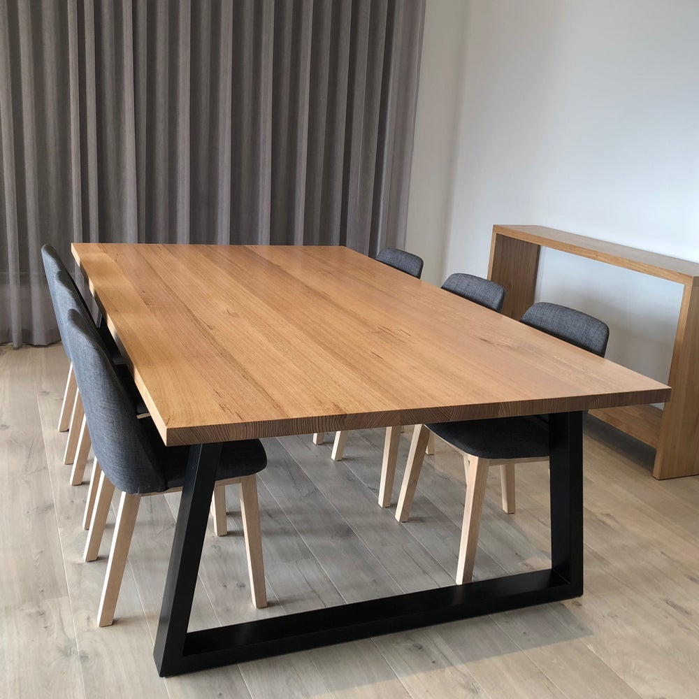 Image of Joined Top Dining Table w Steel Legs