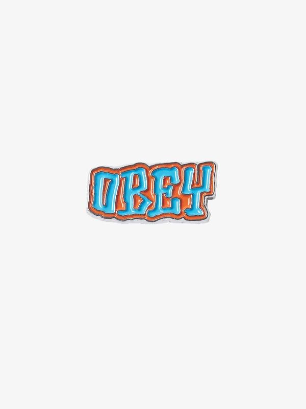Image of OBEY - BETTER DAYS PIN (ORANGE/BLUE)