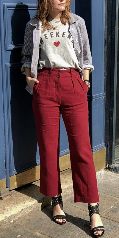 Pantalon Larry Bordeaux 220€  -70% - Maison Brunet Paris