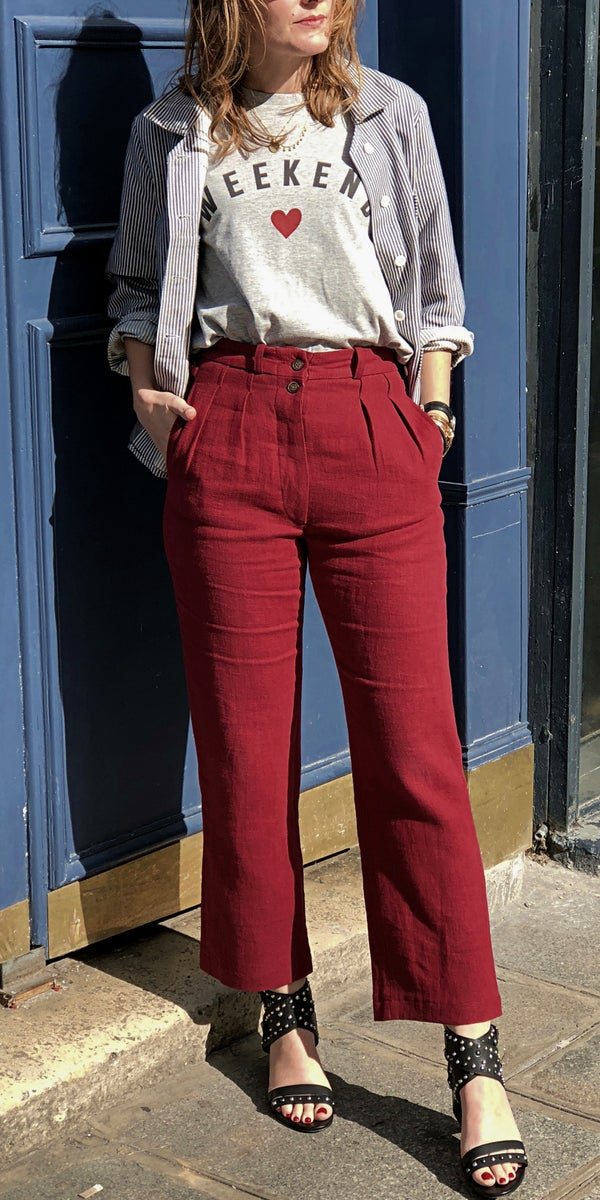 Pantalon Larry Bordeaux 145€ -40% - Maison Brunet Paris