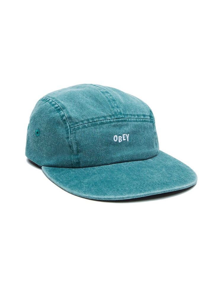 Image of OBEY - DECADES 5 PANEL HAT (TEAL)