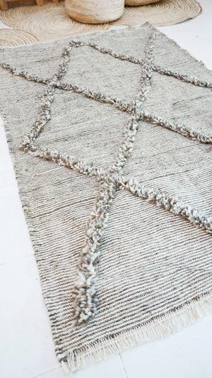 Image of Moroccan Wool Rug - Kilim Diamond Knots