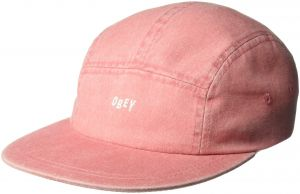 Image of OBEY - DECADES 5 PANEL HAT (PALE CORAL)