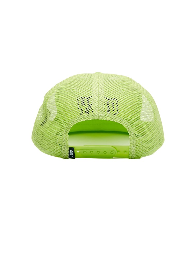 Image of OBEY - RUNNIN TRUCKER HAT (SAFETY GREEN)