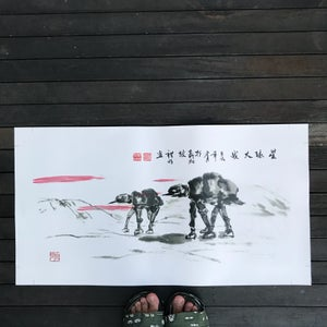 Image of The Oriental Walkers XL canvas print