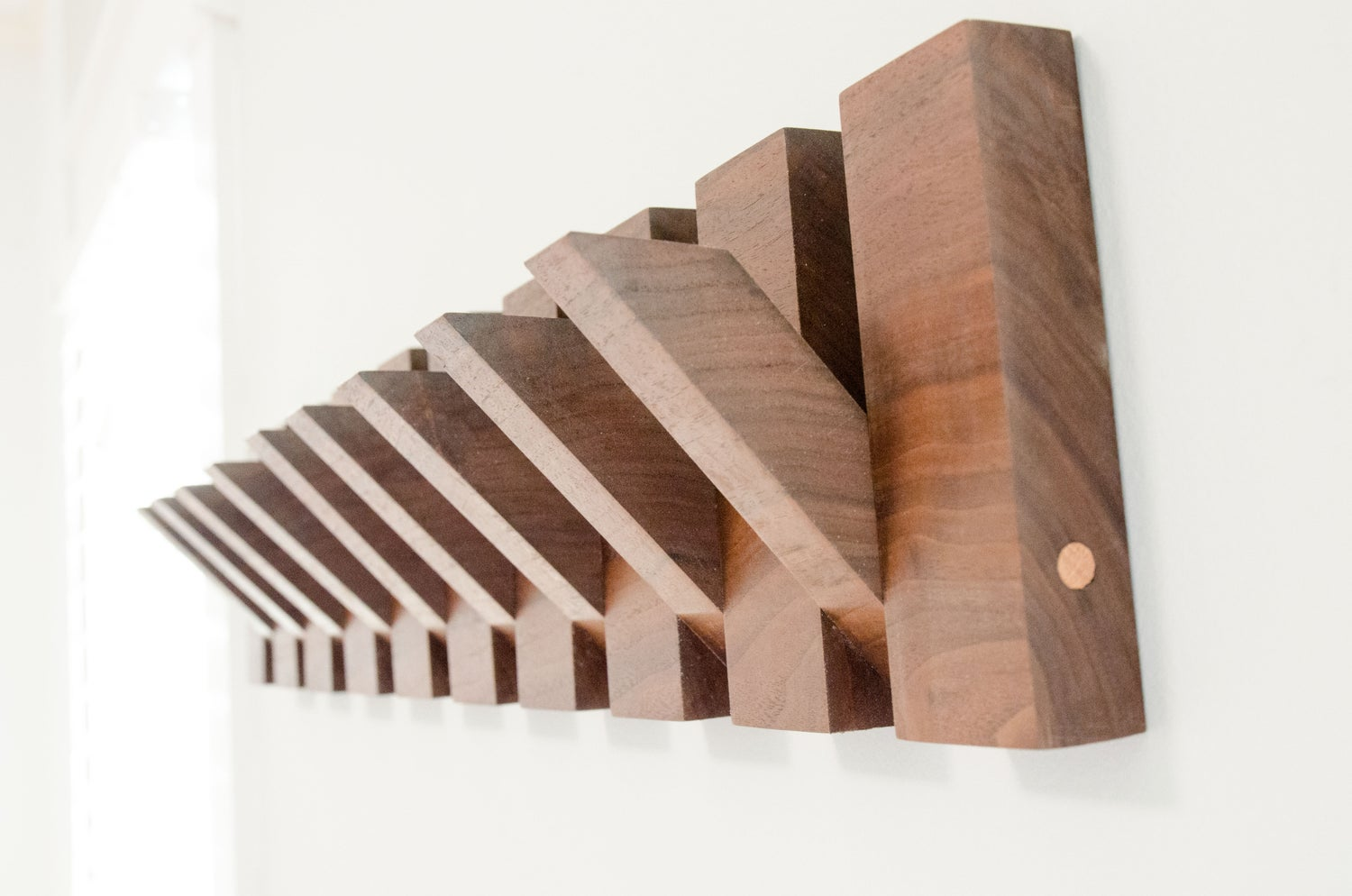 Image of Modern Walnut Coat Rack