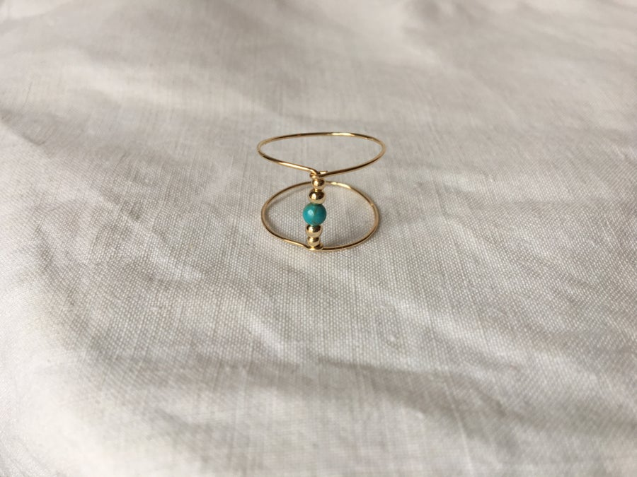 Image of Bague double Turquoise