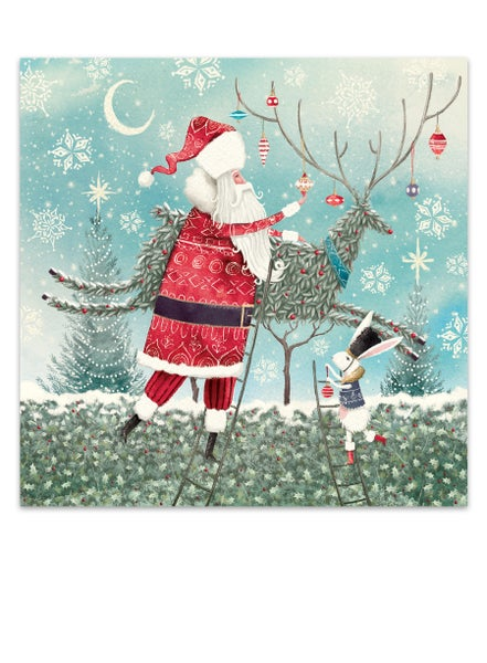 Image of Christmas topiary, Christmas card