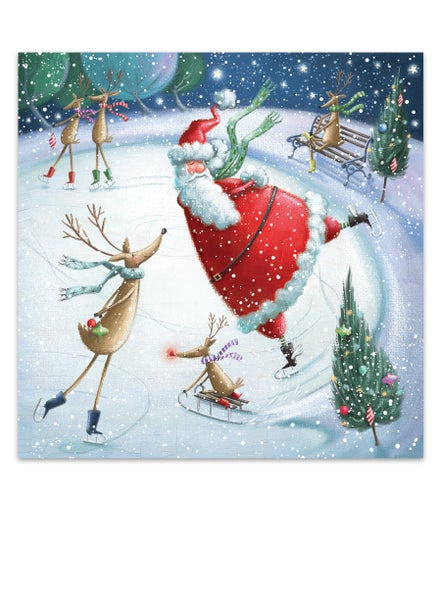 Image of Festive fun on the pond, Christmas Card