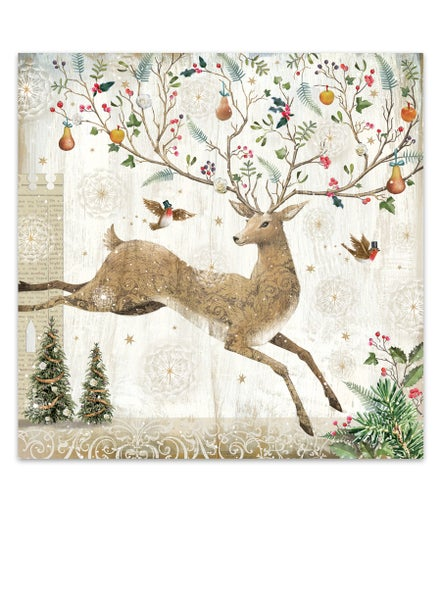 Image of Prancing Stag, Christmas Card