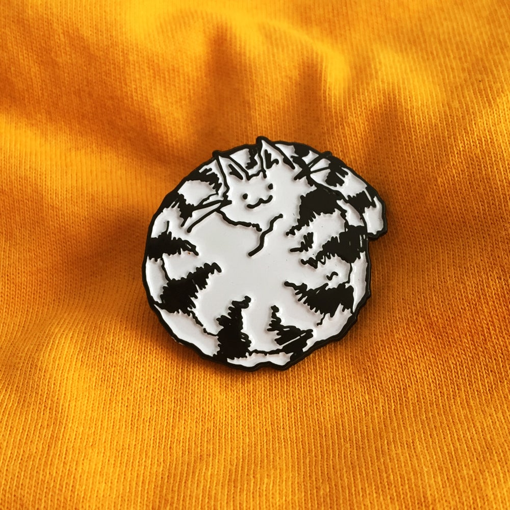 Image of Being Curled Up Looks Like Fun Enamel Pin