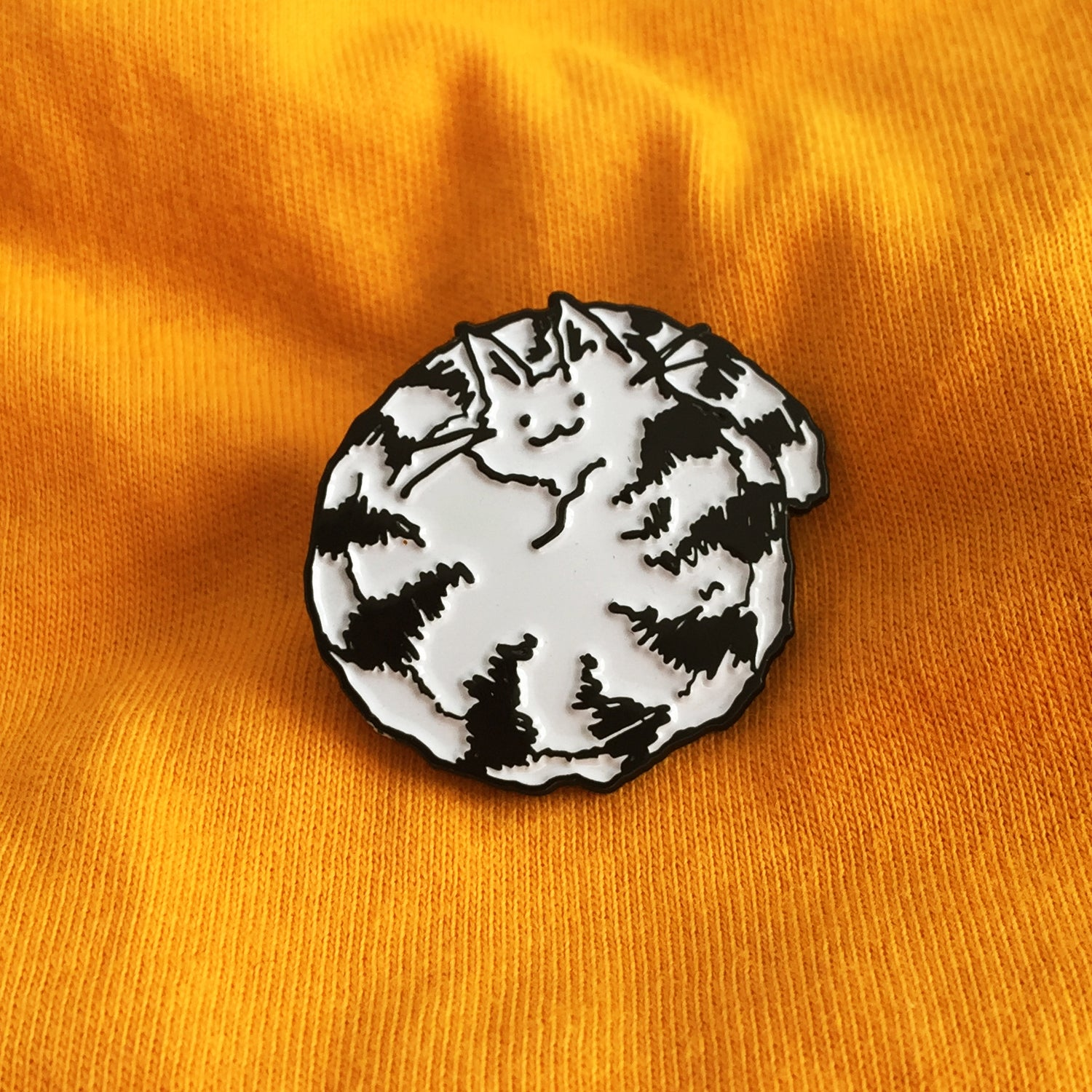 Being Curled Up Looks Like Fun Enamel Pin