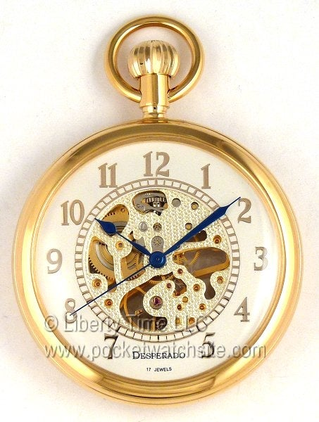 "Image of Desperado ""Linden"" Wind Up Mechanical Pocket Watch 830G"