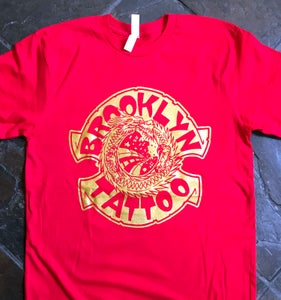 Image of Shop Shirt Classic Logo on Red