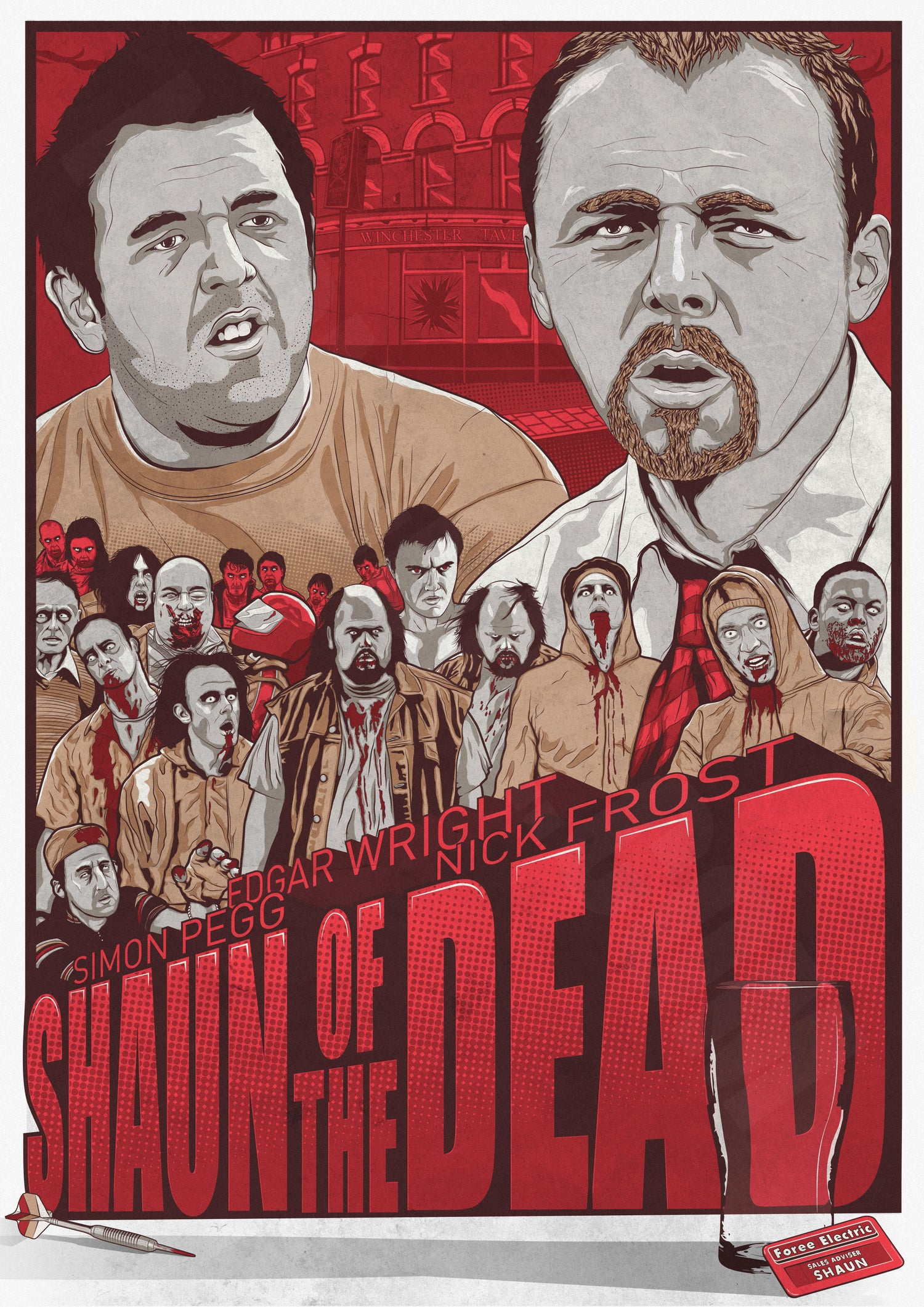 Image of Shaun Of The Dead - A3 Print