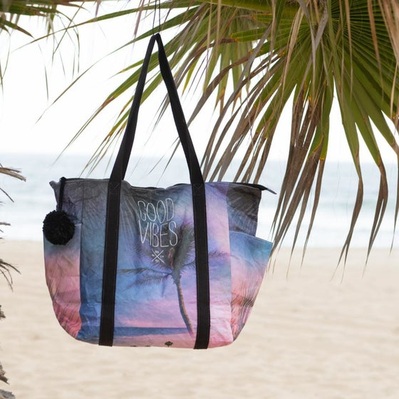 """Image of NEW!  GN4LW x MIXT STUDIO Collab  """"Good Vibes"""" Tote Bag!"""