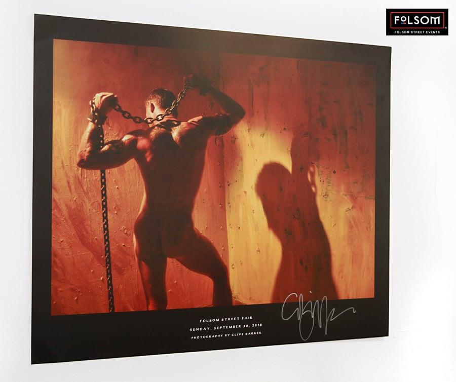 Image of Signed Clive Barker 2018 Folsom Street Fair Poster