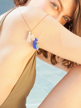 Image of Vetro prezioso di mare collana charms