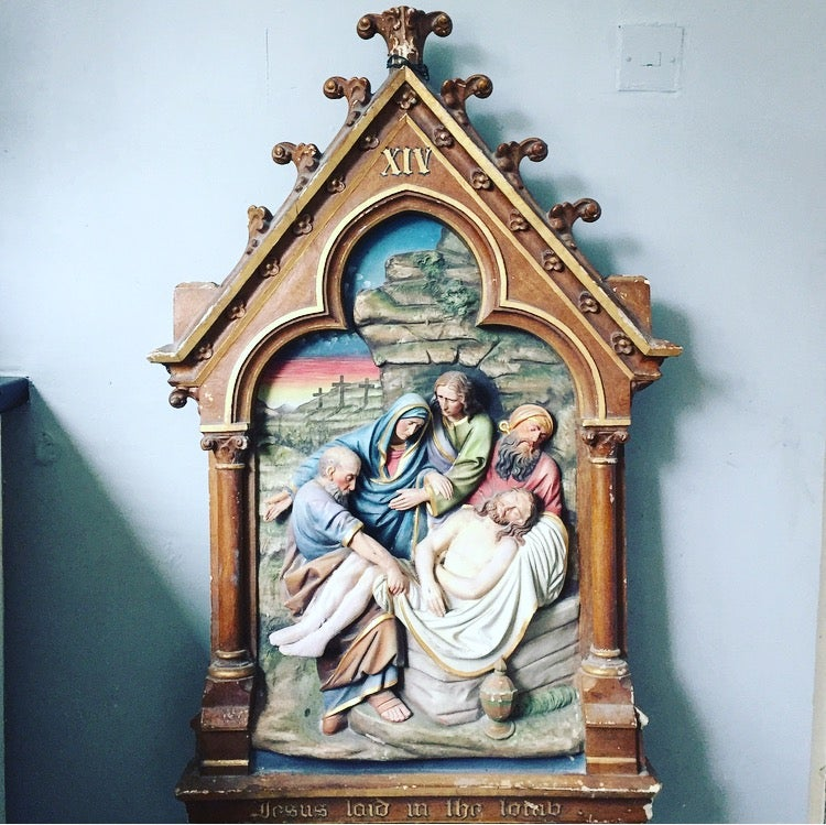 Antique station of the cross