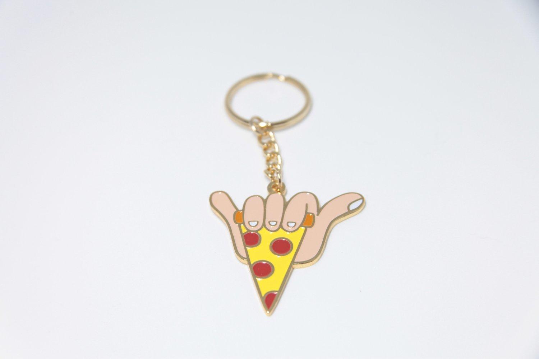 Image of Shaka slice keychain
