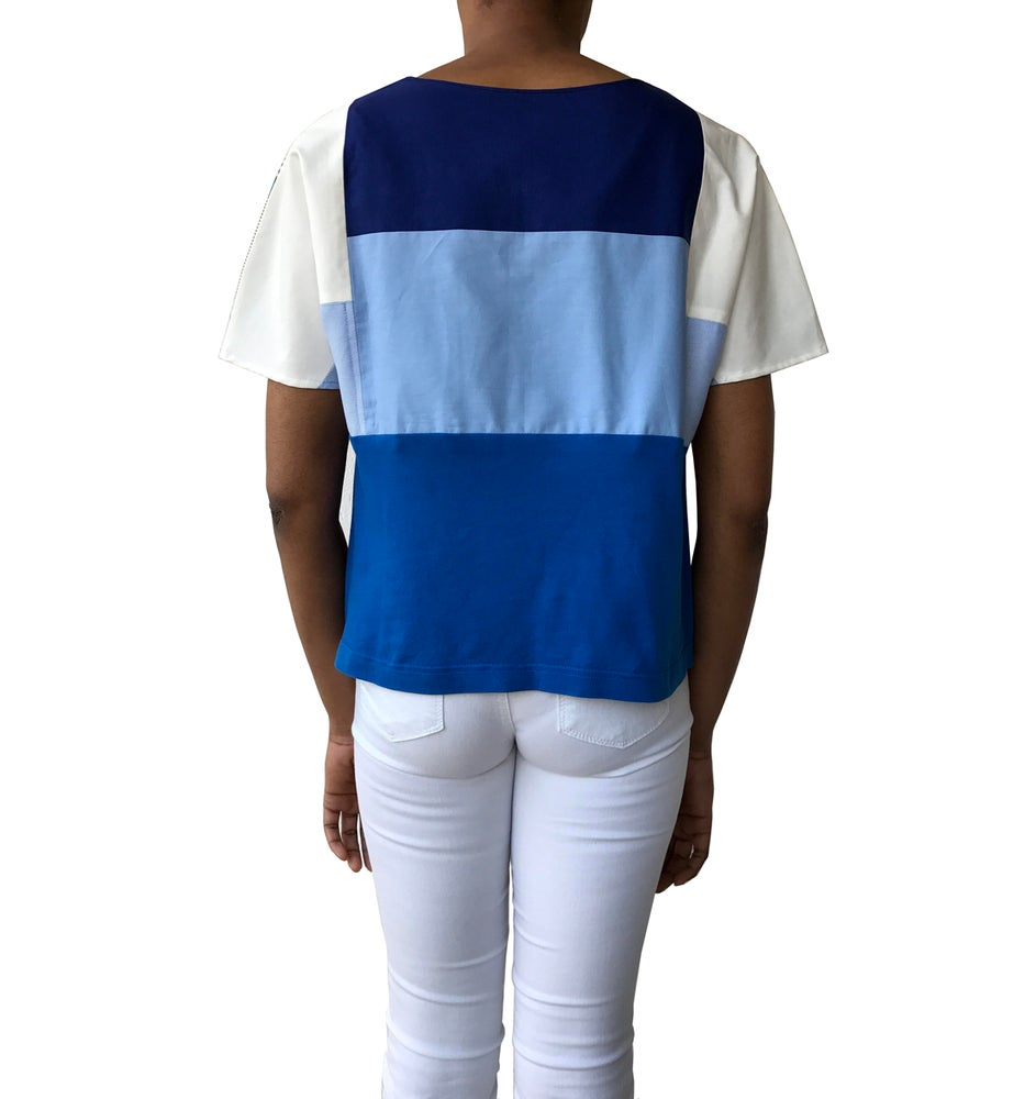 Image of Graphic Patchwork top