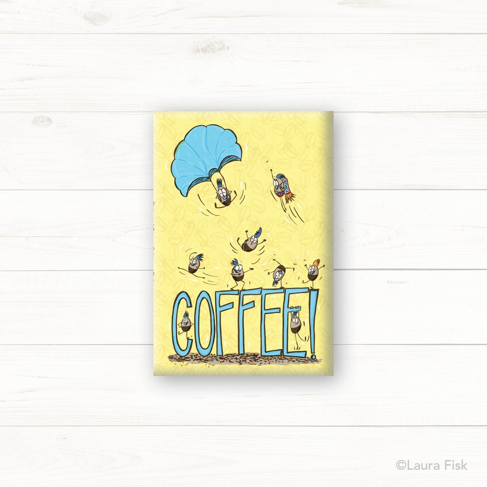Image of Coffee Beans Fridge Magnet