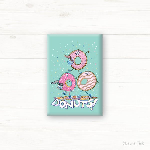 Image of Donuts Fridge Magnet